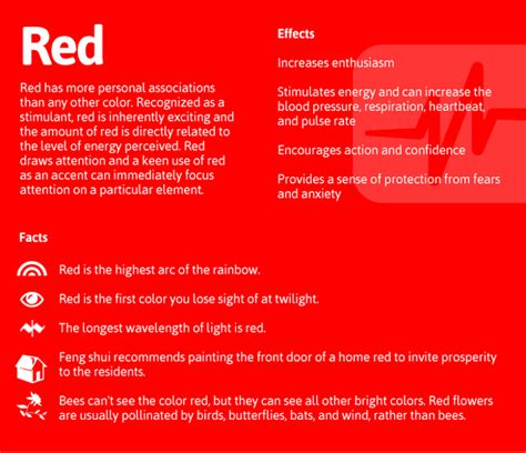 red color meaning psychology of color daily dose