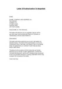 Authorization Letter Negotiate letter of authorization to negotiate hashdoc