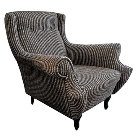 black and white armchairs 1950 s black and white striped boucle rolled armchair at