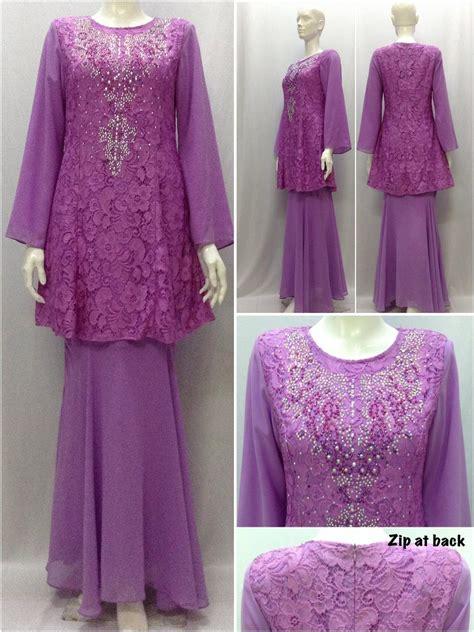 Baju Kurung Purple Pekat purple sleeve lace chiffon rhin end 8 28 2015 6 15 pm