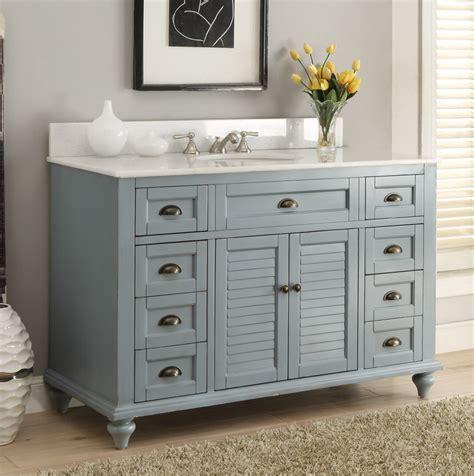 Antique Blue Bathroom Vanity by Adelina 49 Inch Antique Bathroom Vanity Blue Finish