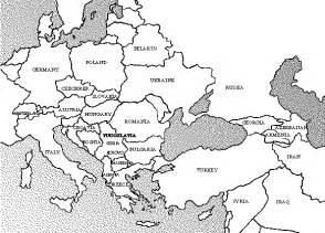 Black And White Map Of Europe by Black And White Map Of Europe Galleryhip Com The