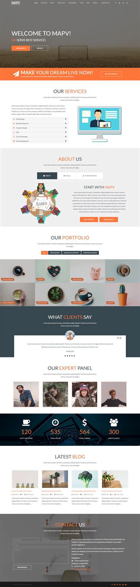 responsive portfolio templates mapv responsive portfolio template by coderexperts
