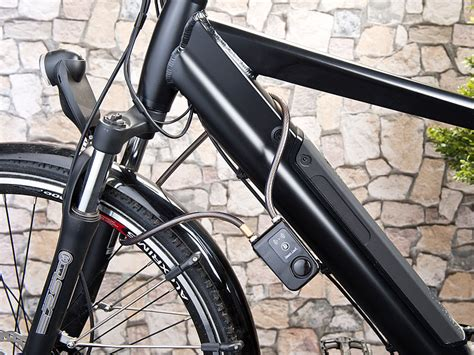 Motorrad Alarmanlage Test by Semptec Fahrradalarm App Gesteuertes Kabelschloss