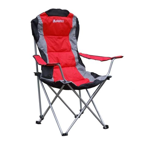 gigatent padded camping chair  red cc  home depot