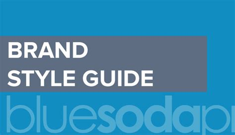how to create a brand s visual style guide template