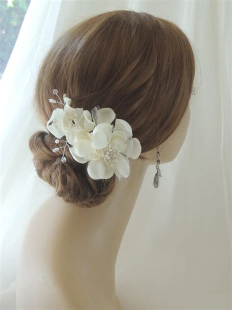 Wedding Hair Accessories Fresh Flowers by Silk Bridal Headpiece Bridal Hair Flower Combwedding