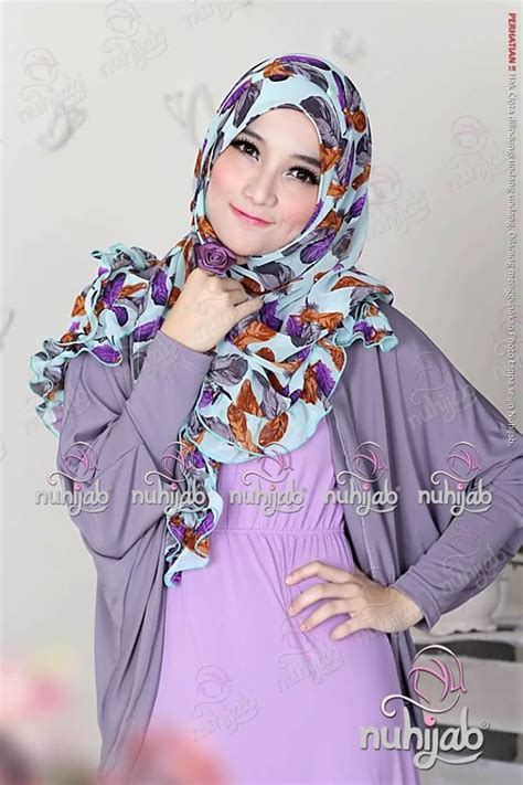 Shawl Instant Elmira Nuhijab Nu spin purple spin adalah kreasi pashmina terbaru dari