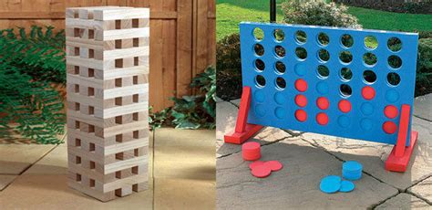 giant jenga large connect  party garden games indoor
