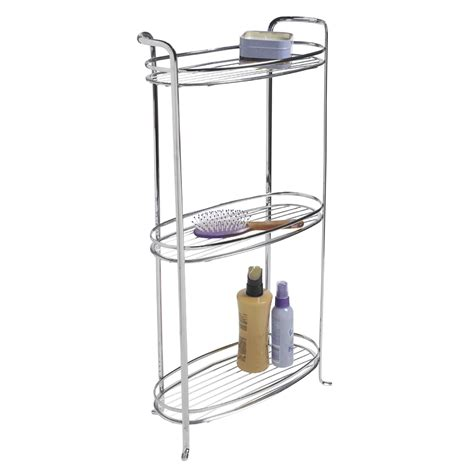 Chrome Bathroom Shelves Interdesign Axis Bath Tower Shelf 3 Tier Chrome 2090h