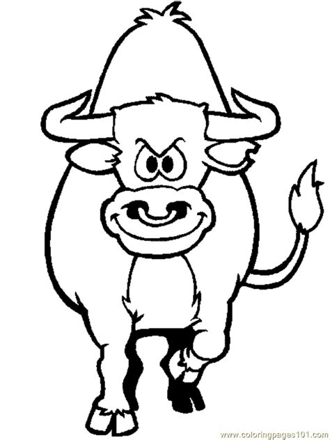 ox coloring page az coloring pages