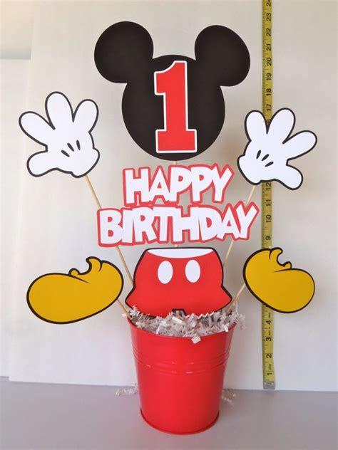 Centerpiece Mickey 1st Birthday 289566 mickey mouse centerpiece with handmade box mickey 1st