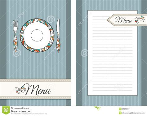 Template For Menu Royalty Free Stock Photography   Image