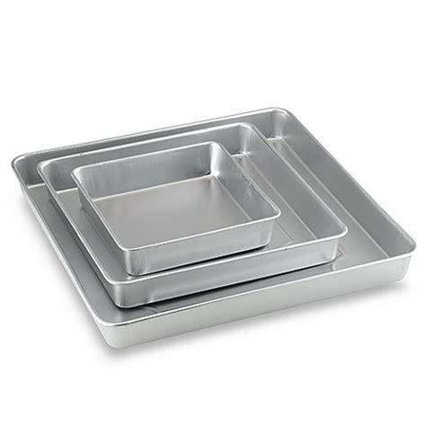 Bed Sheet Buying Guide wilton 174 3 piece square cake pan set bed bath amp beyond