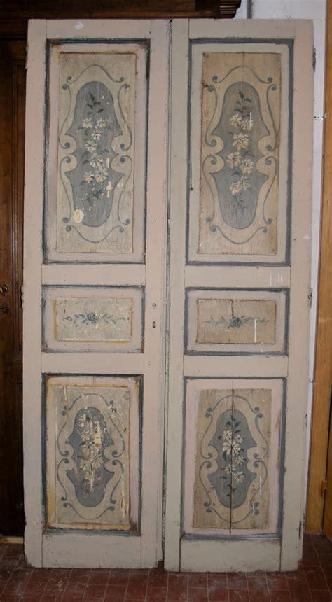 porte decorate antiche ptl337tre porte decorate con fiori bifacciale mis cm