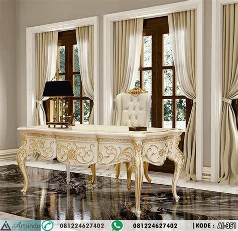 Makan Meja Di Golden Leaf meja kerja klasik eropa putih gold leaf arts indo furniture jepara arts indo furniture jepara