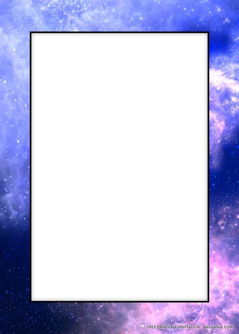 printable amazing galaxy birthday invitation