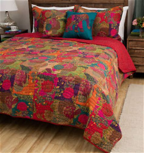 jewel tone bedding king size 3 piece jewel tone red multi cotton reversible bed quilt set w shams ebay