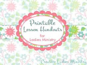Free printable bible lesson handouts for womens ministry from