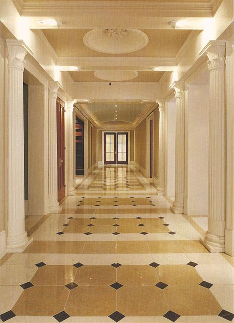 marble floor grand hallway traditional hall philadelphia  anderson