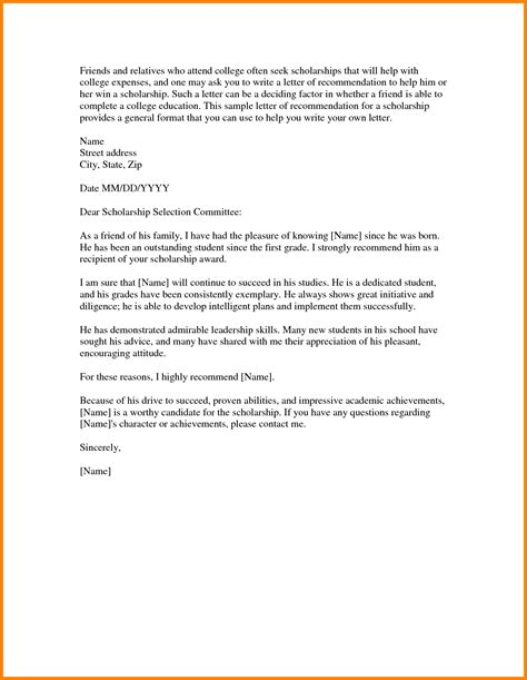 Scholarship Formal Letter 7 Letter For Scholarship Format Ledger Paper