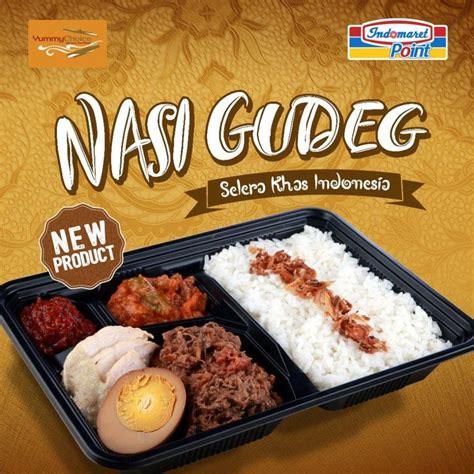 product nasi gudeg selera khas indonesia tersedia