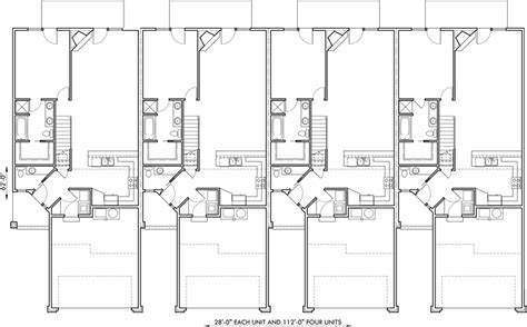 4 unit multi family house plans 4 plex house plans master bedroom on main 4 unit