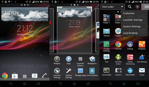 theme walkman apk xperia z launcher 2 0 5b and widgets with added