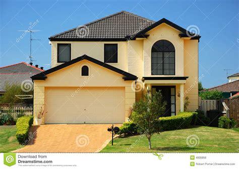 house photo suburban house stock photo image of house hedge suburb