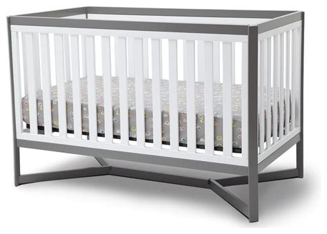 Modern Cribs by Delta Tribeca 4 In 1 Crib White And Gray Modern Cribs