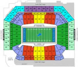 Ford Field Seat Map Seating Detroit Lions Tickets