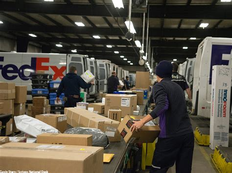 here s what happens inside a package delivery facility during the holidays story
