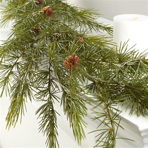 realistic artificial pine garland what s new craft