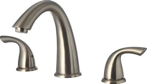 3 Handle Shower Faucet Brushed Nickel Lifetime Warranty Wide Spread Roman Tub Faucet Brushed
