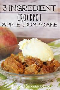 3 ingredient slow cooker apple dump cake money saving sisters