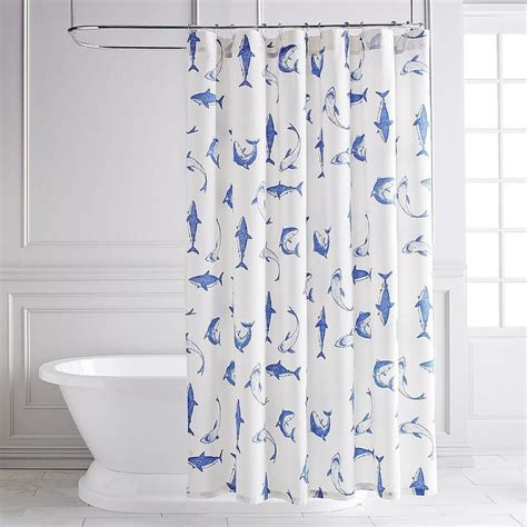 Blue Bathroom Shower Curtains Blue Shower Curtain Curtain Menzilperde Net