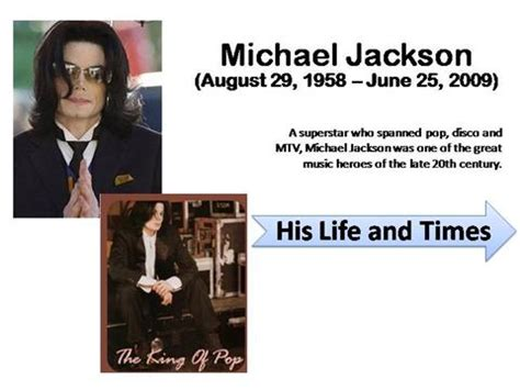 michael jackson biography in pdf michael jackson life and times authorstream