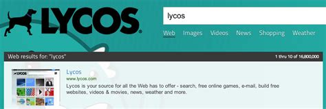 Lycos Search Introduction To S E O Shm Hack
