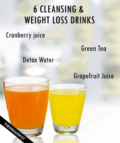 Detox Water Weight Loss Reviews by 6 Cleansing And Weight Loss Drinks Theindianspot