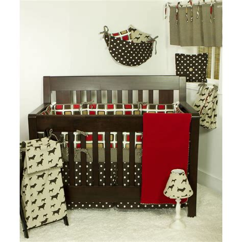Houndstood Set houndstooth 4 baby bedding set by cotton tale designs