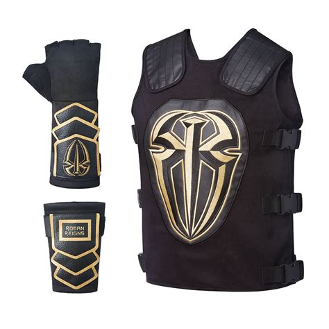 Reigns Replica Glove Set Gold 2016 reigns replica vest package us