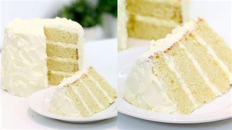 perfect vanilla cake vanilla birthday cake recipe youtube