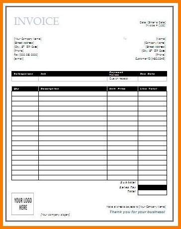 invoice sheets printable hardhost info