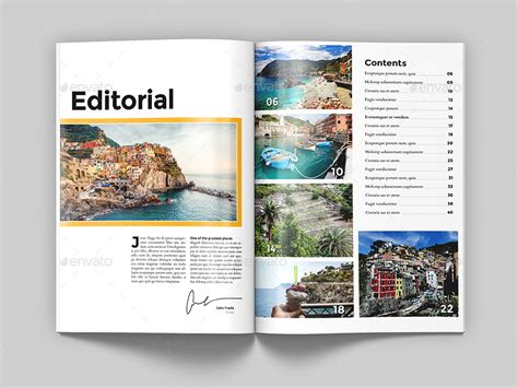 magazine layout template graphicriver travel magazine template by northgraphics graphicriver