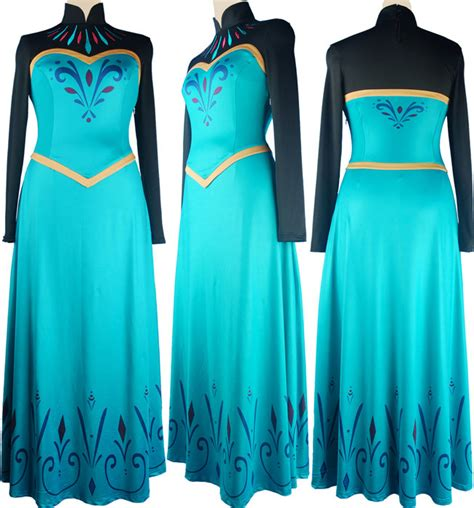 Disney Frozen Elsa cosplay dress prom dress Disney movie film cosplay costume green gift for
