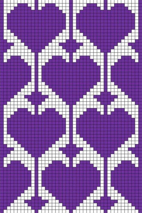 heart knitting pattern chart