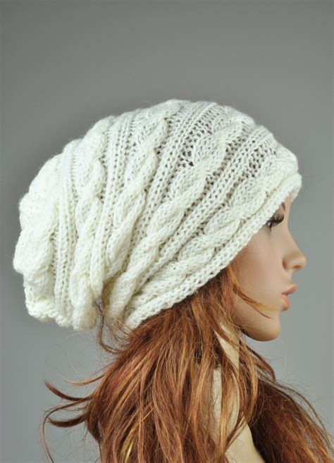 cable knit slouchy hat pattern knit hat cable pattern hat in slouchy hat