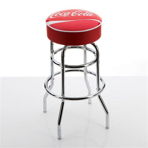 Coca Cola Stools by Beverage Branded Padded Barstools