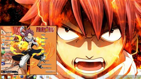 themes for windows 7 fairy tail win 7 theme natsu dragneel fairy tail by bazzh