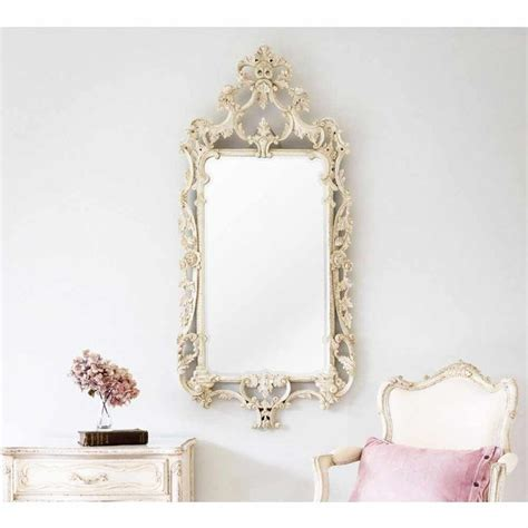 delphine distressed shabby chic mirror shabby chic